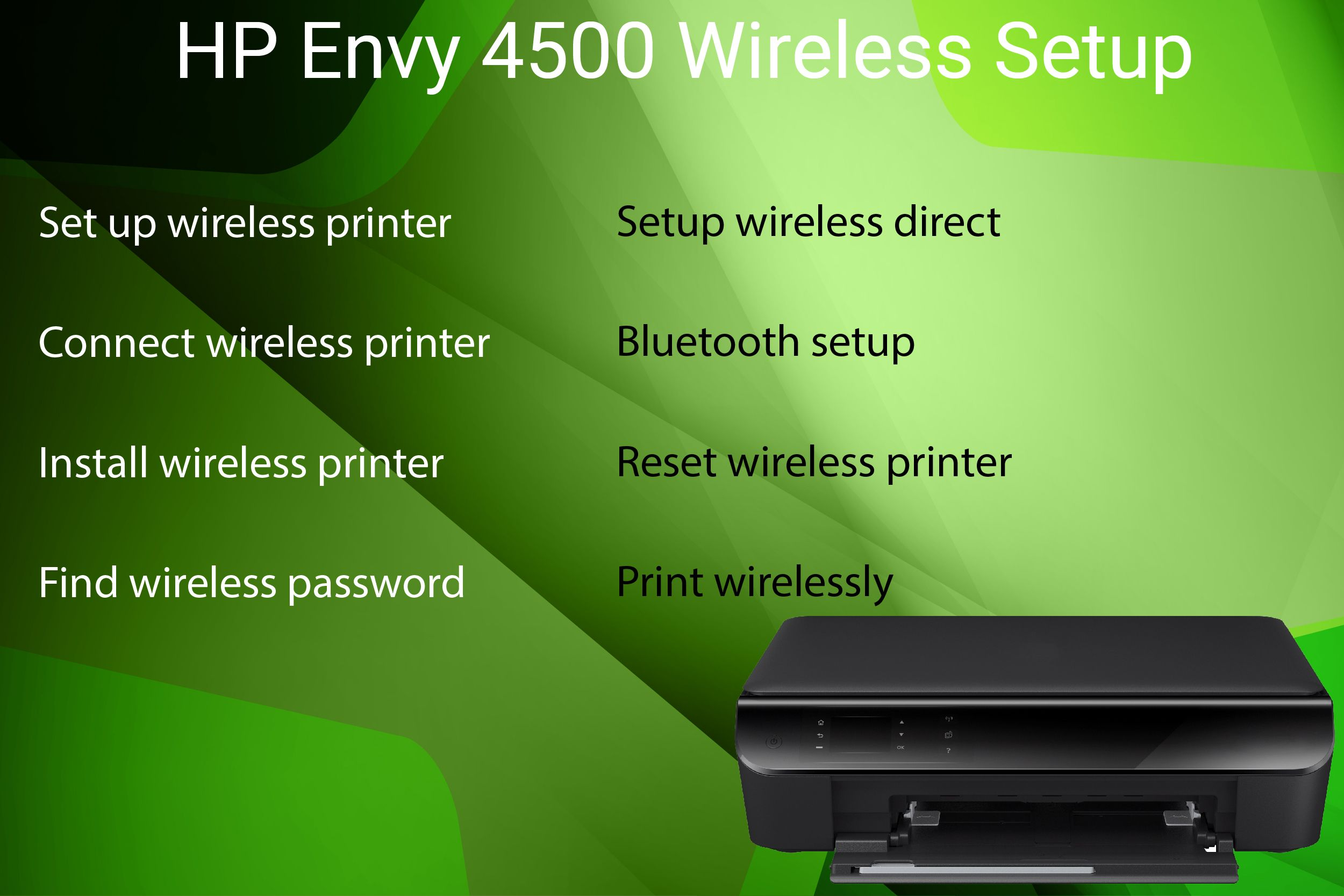 HP Envy 4500 wireless setup guide to setup, install and