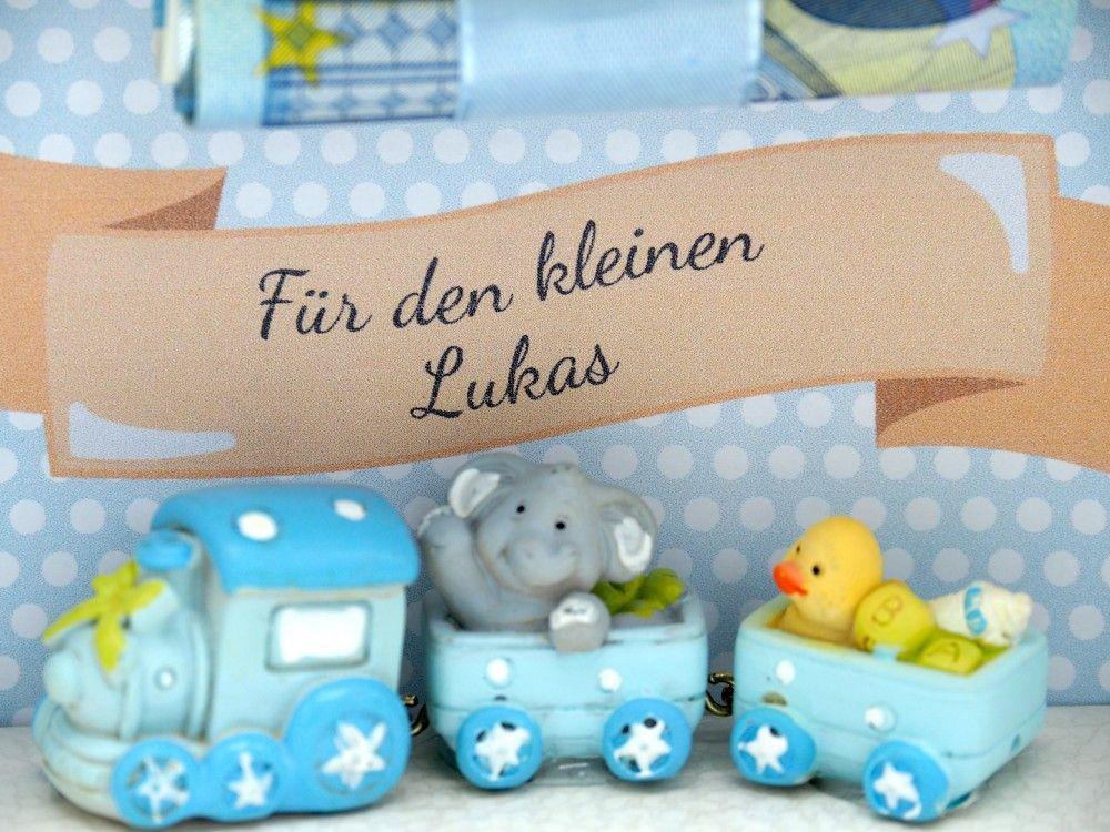Geldgeschenk Verpackung Baby Junge Eisenbahn Geburt Taufe Mit Namen