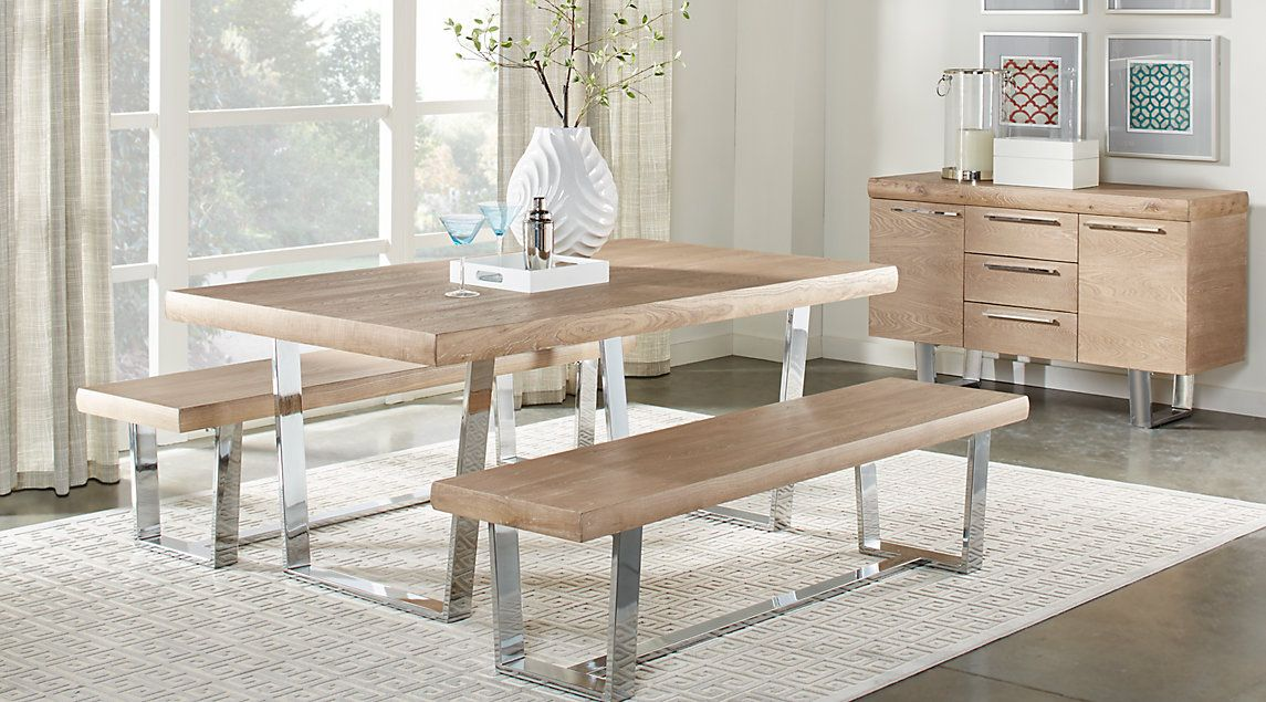 Cindy Crawford Home San Francisco Ash 3 Pc Dining Room Dining Room Sets Affordable Dining Room Sets Dining Room Contemporary
