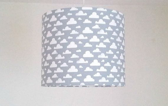 Cloud Lamp Shade Grey Nursery Neutral Lighting By