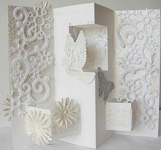 beautiful altered card with instructions  http://zoechaos.blogspot.com/