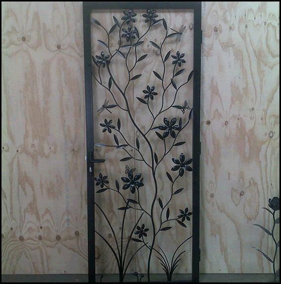 Front Security Door -- Overwrought Metalwork & Design | Security ...