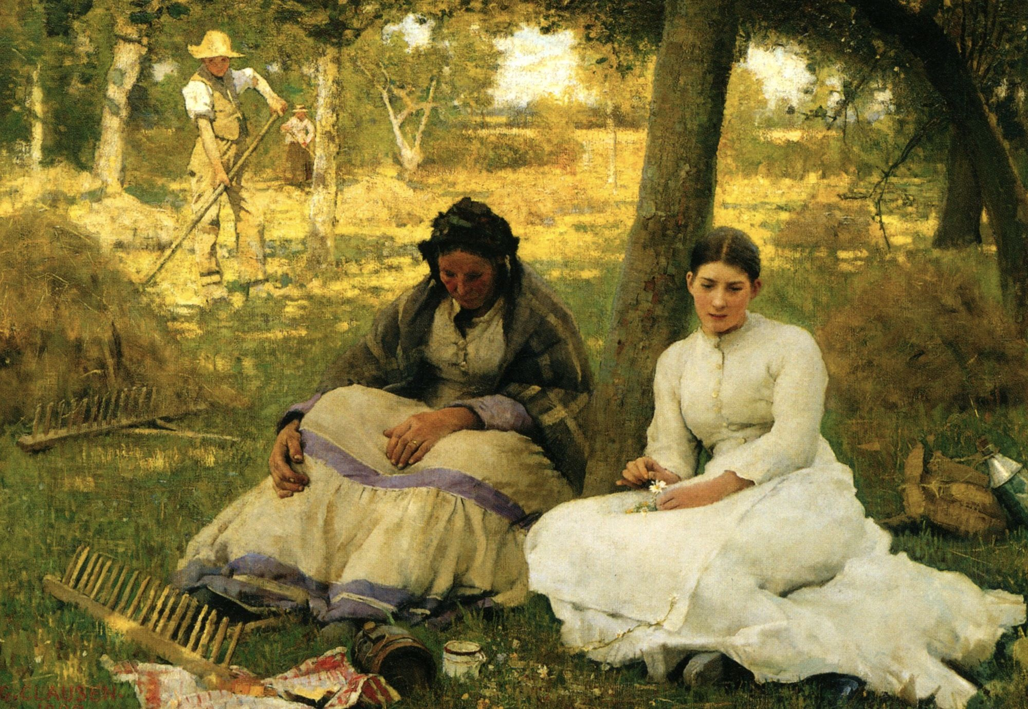Daydreams, 1883 ~ Sir George Clausen ~ (British: 1852-1944)