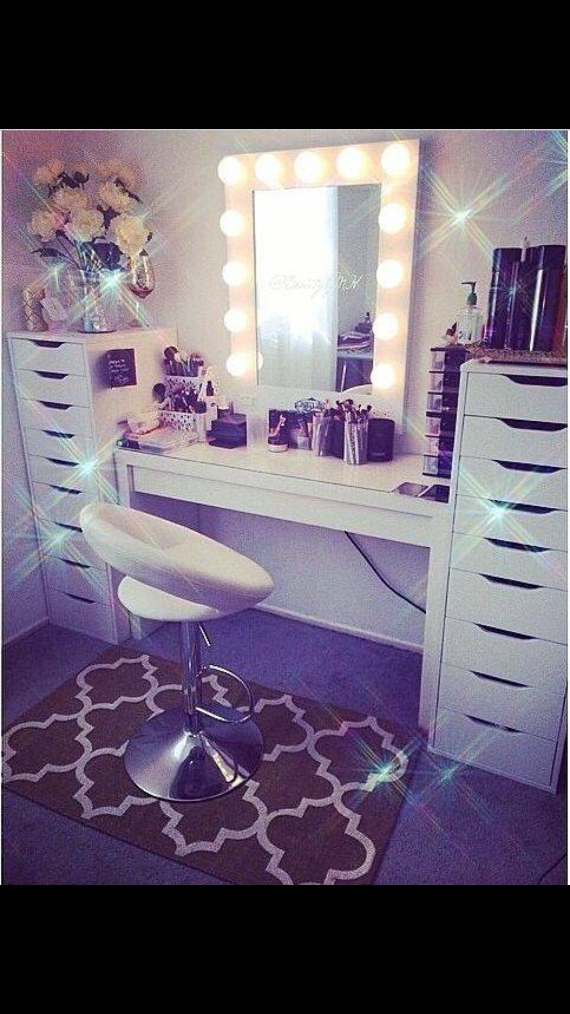 pharmacy set desk and linon ikea diy led vanities table lighted bedroom vanity harper on pinterest makeup mirror with best adjustable ideas lights light