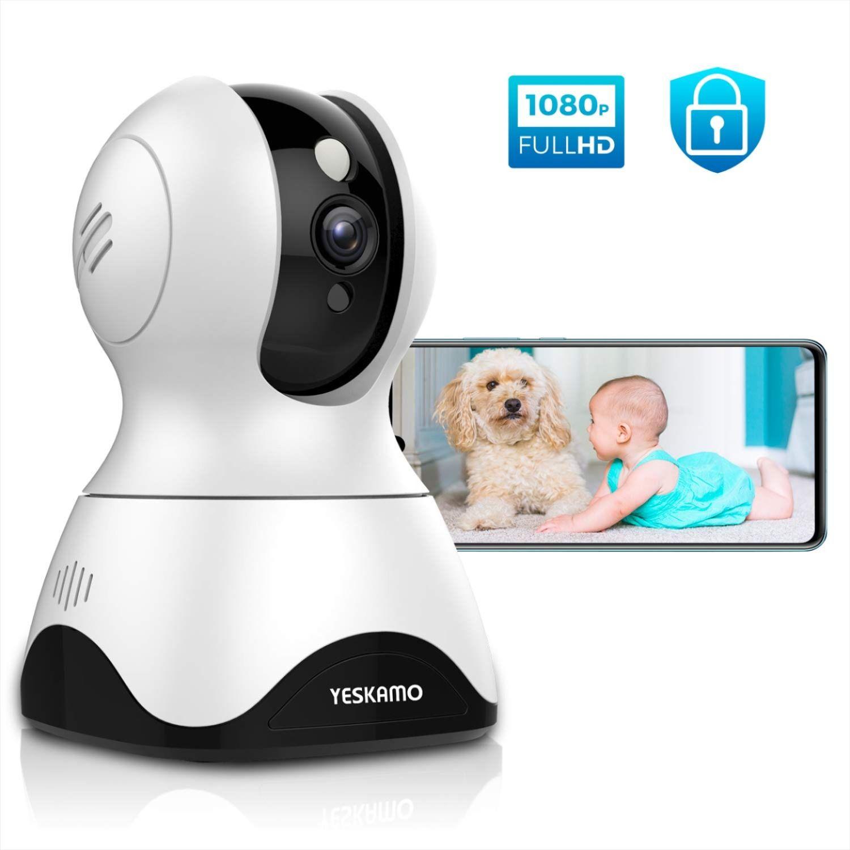 YESKAMO Dog Camera Pet Monitor 1080P HD Home WiFi Security