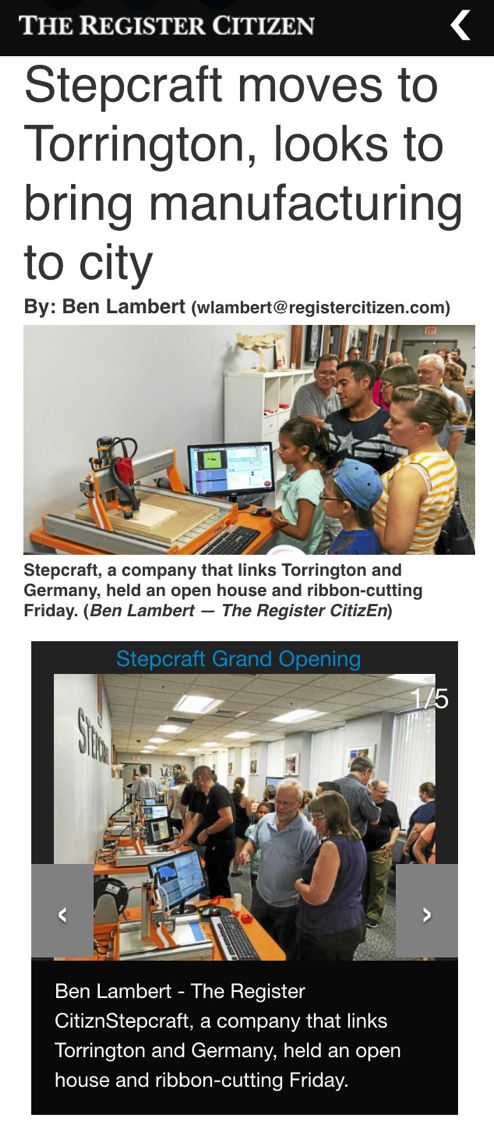 Stepcraft moves to Torrington, looks to bring manufacturing to city