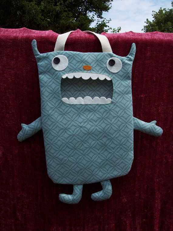 Carson A Large Candy Monster Bag/ Eco Friendly Trick or Treat Bag ...