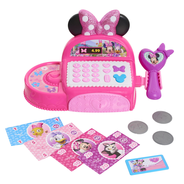 Disney Junior Minnie Mouse Bowtique Cash Register Ages 3 Walmart Com In 2021 Minnie Mouse Toys Cash Register Toys For Girls