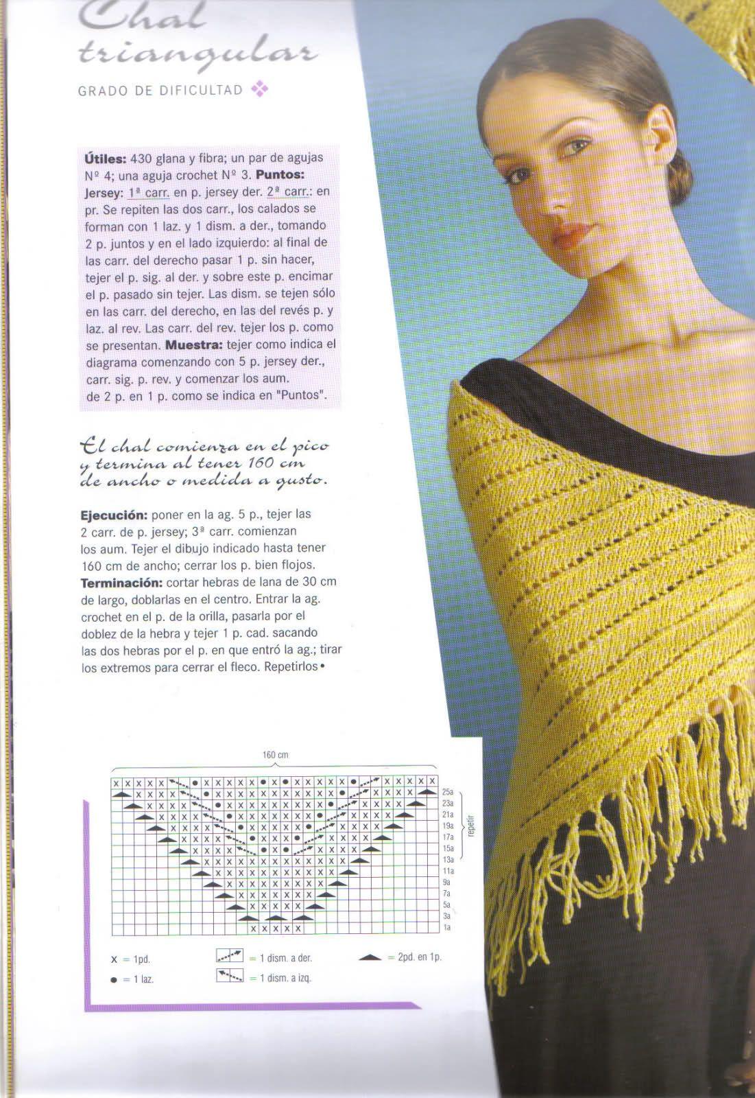 Patrones de chal a palillo | Modelos de Chaleco | Pinterest ...
