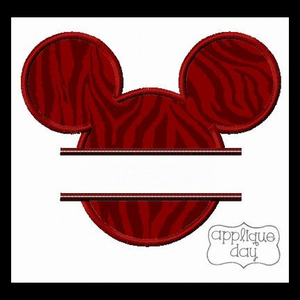 Mickey Mouse Split Applique Design Instant Download by AppliqueDay