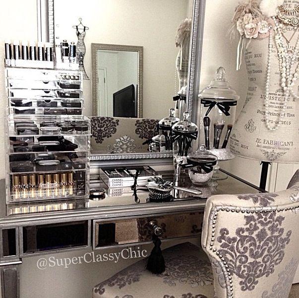 Muebles organizadores de maquillaje 30 vanity decor for Muebles organizadores