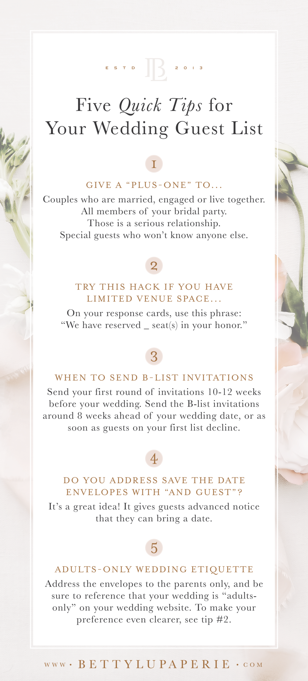 Wedding Guest List Etiquette Betty Lu Paperie Wedding Invitation Hacks Wedding Guest List Etiquette Wedding Guest List