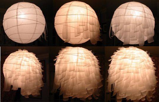 Lampadario Di Carta Velina : 10 cheap diy and before & after projects under $50 lampadari fai