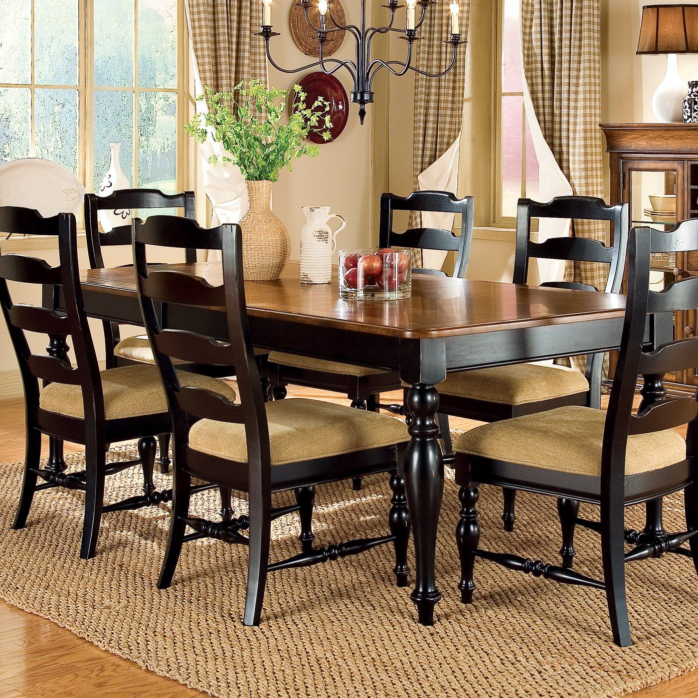 Southern Style Peters Revington 25866 Shenandoah Valley Rectangular Dining Table Cherry Southern Living Furniture Dining Room Sets Dining Table In Kitchen [ 1400 x 1400 Pixel ]