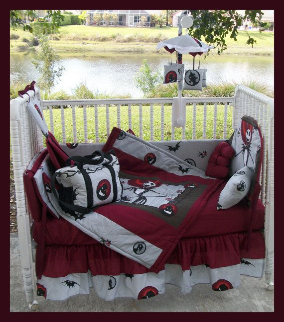 new nightmare before christmas crib bedding set, diaper bag andnew nightmare before christmas crib bedding set, diaper bag and mobile accessory package on etsy, $400 00
