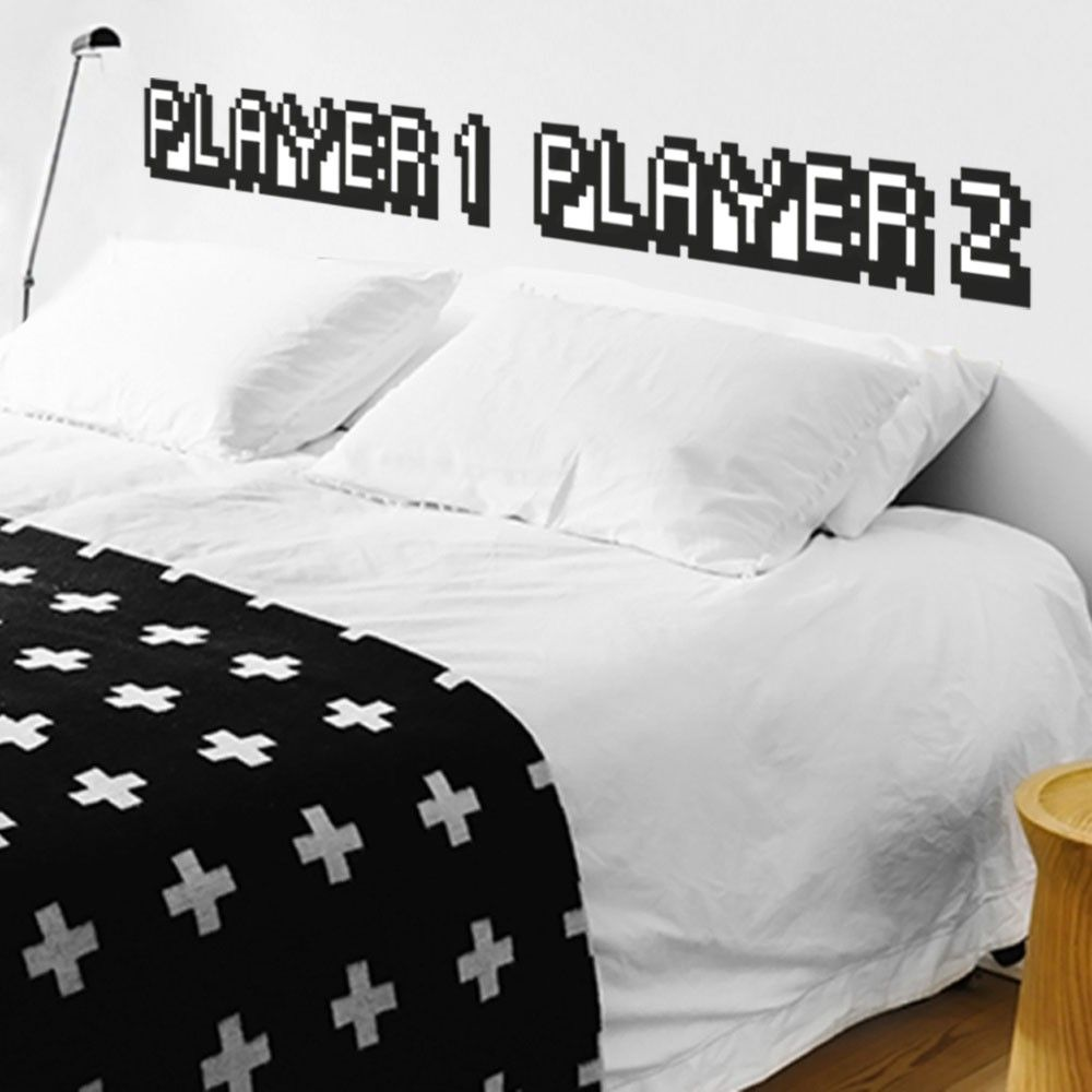 Adesivo de Parede Adesivo de Parede para cabeceira de cama Players   Grudado