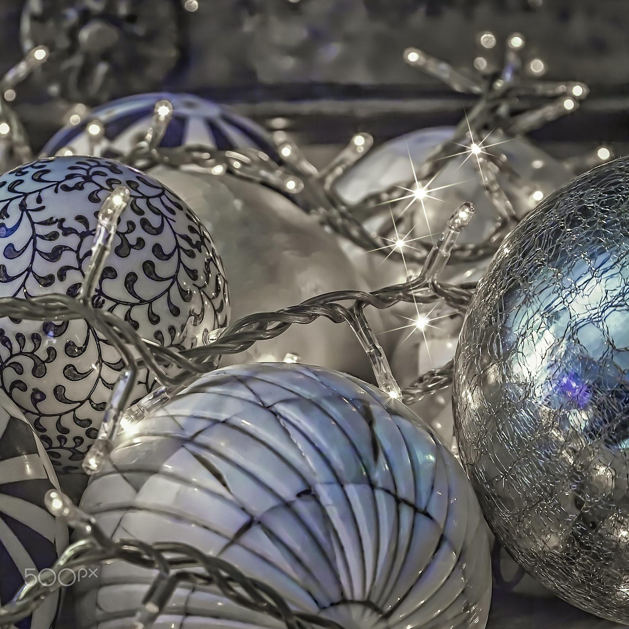 Silver Decorative Balls Festive Balls Silver Decorative Balls With Fairy Lights