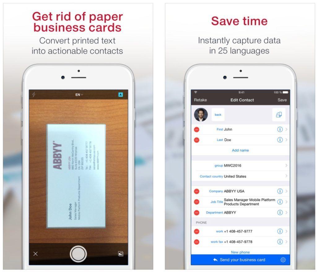Best Iphone Business Card Readersscanners Geek Pinterest Card