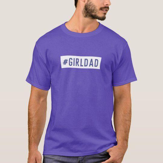 GIRLDAD Father's Day Dad Girls Modern Cool Purple T-Shirt
