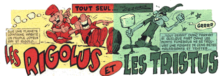 Rigolus Tristus Png 450 154 Les Rigolus Et Les Tristus Bande Dessinee Illustration Malfaisant