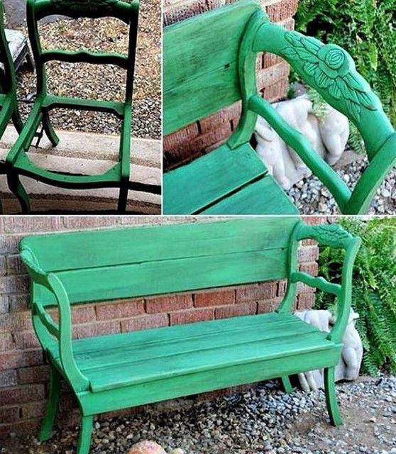 De jolis bancs en bois, faits maison pour le jardin ! Banquettes