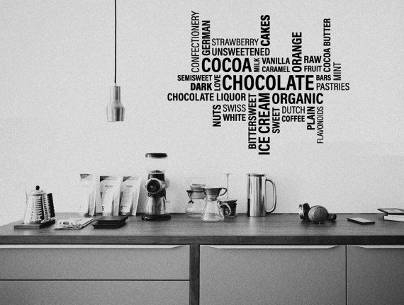 Cafe Wall Decor Decal Chocolate