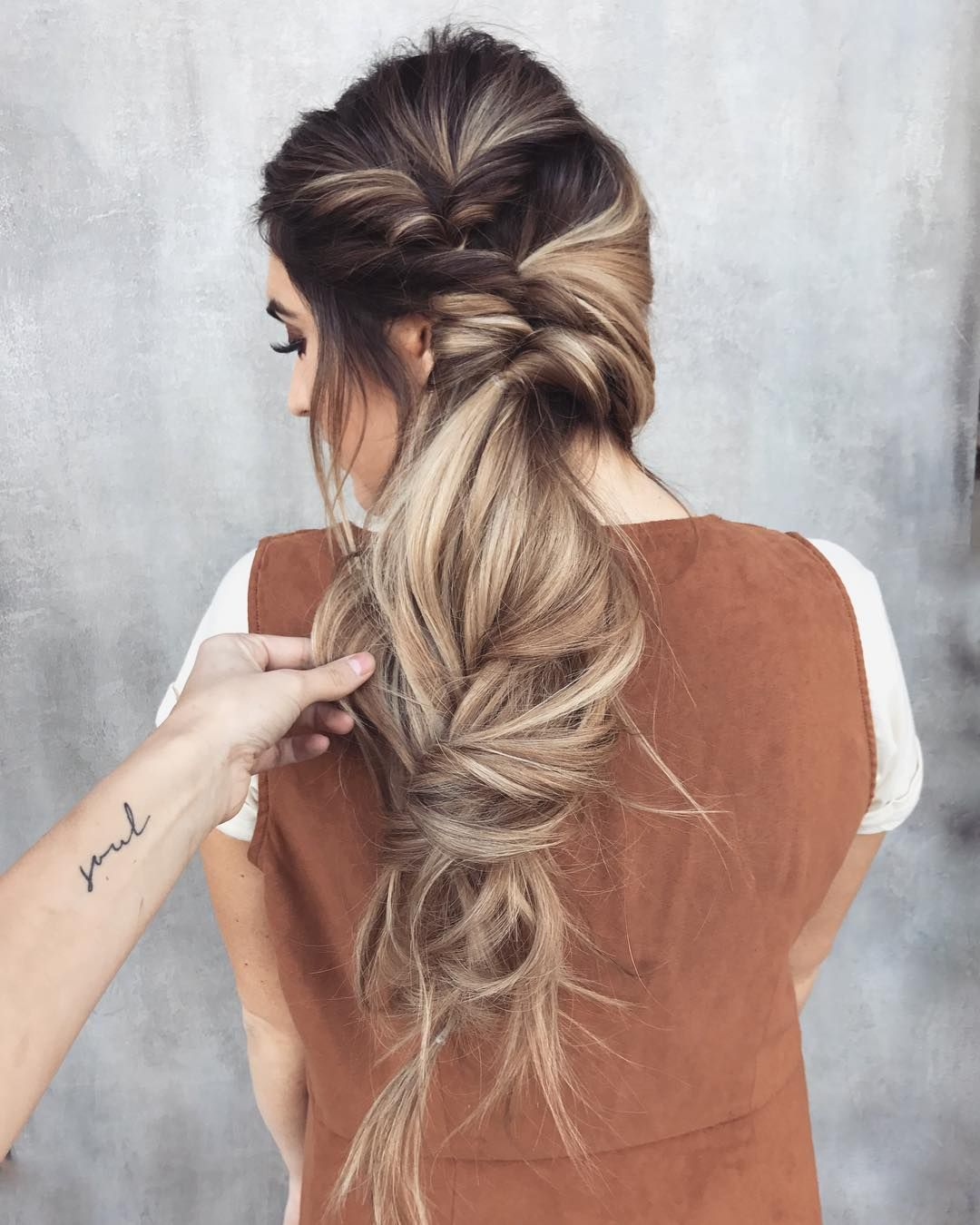 10 messy braided long hairstyle ideas for weddings & vacations