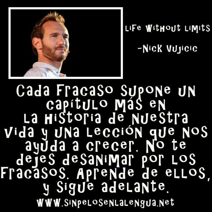 Excepcional Resultado de imagen para nick vujicic frases | Mensajes  JO84
