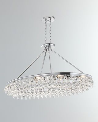 Crystorama Calypso 8 Light Crystal Teardrop Oval Chandelier