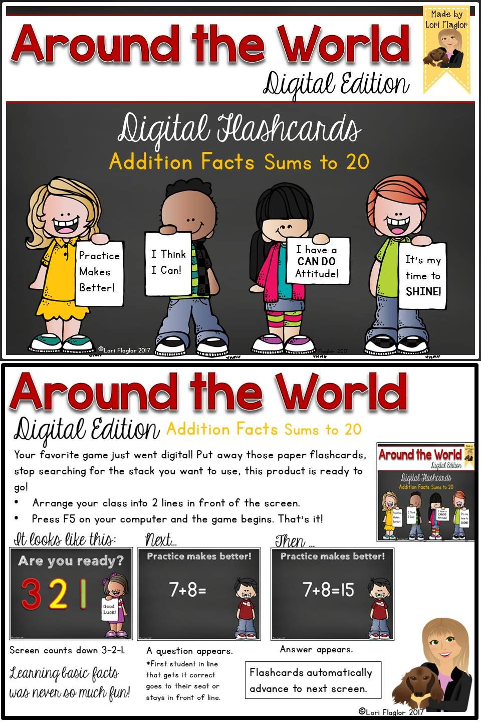Around the World Digital Edition Addition Facts Sums to