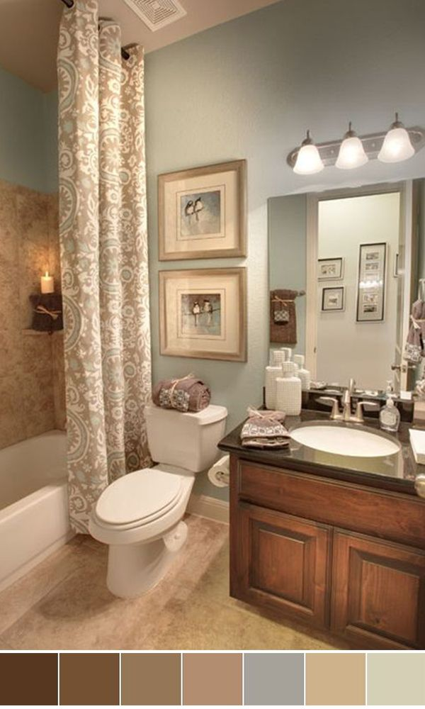 111 world s best bathroom color schemes for your home for Bathroom color theme ideas