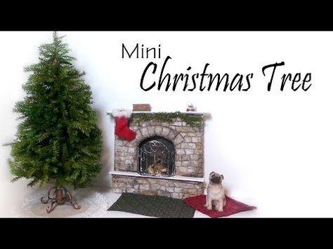 Miniature Christmas Tree Tutorial (+Stand & Skirt) - Dolls/Dollhouse…