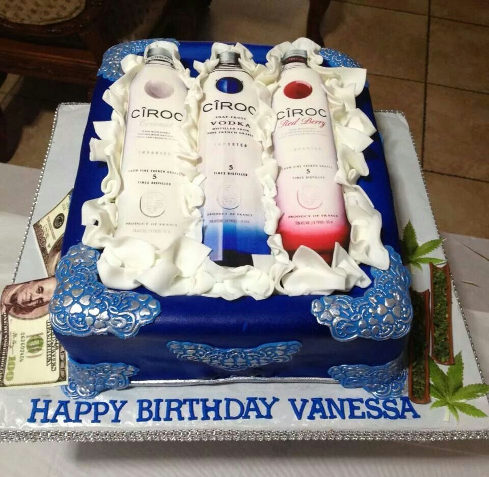 Incredible Ciroc Cake All Edible With Images Adult Birthday Cakes My Birthday Cards Printable Trancafe Filternl