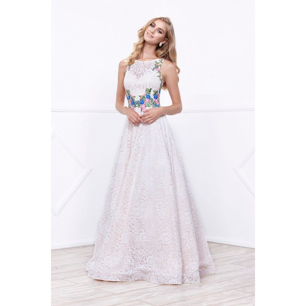 2017 Affordable Fairytale Ivory & Gold Ball Gown Lace A-line Prom ...