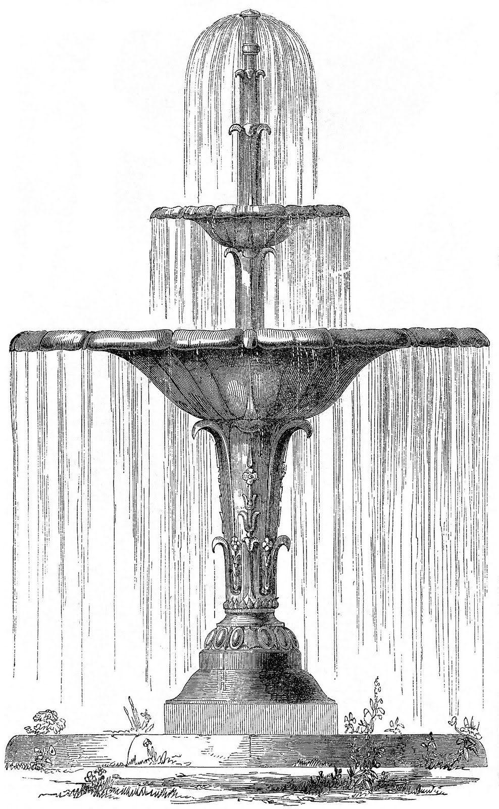 cool fountain water Фонтаны, Городские наброски