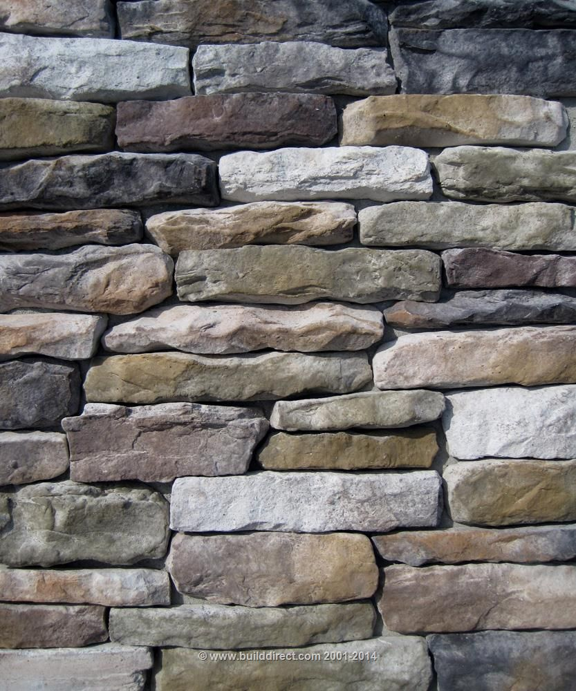 Builddirect black bear manufactured stone veneer ledge for Brick and stone veneer