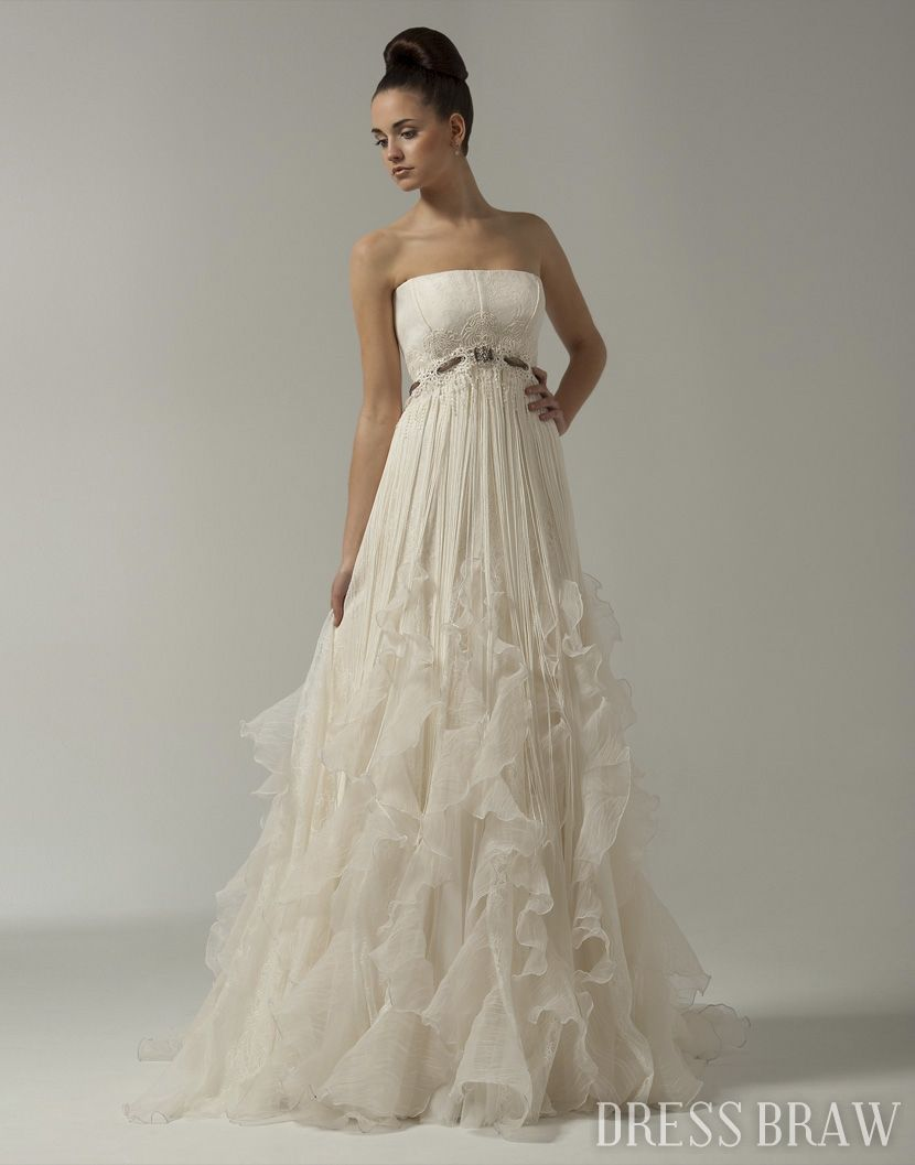 I didnut want strapless but this is stunning my rustic chic