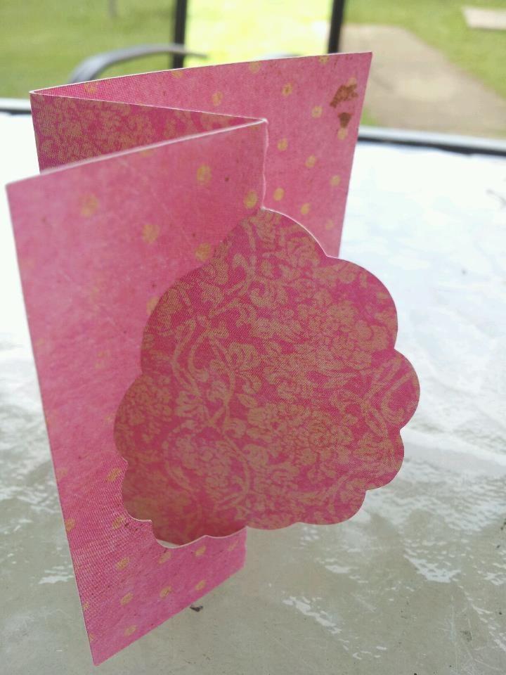 Scalloped Oval Flip-fold Card | Swing card, Cards, Card ...