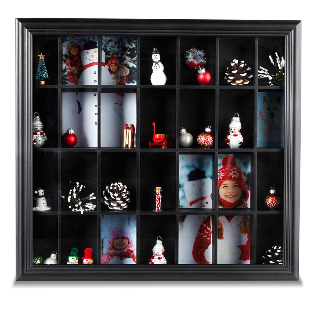 Preserve your favorite holiday memories in a winter embellished shadow box.