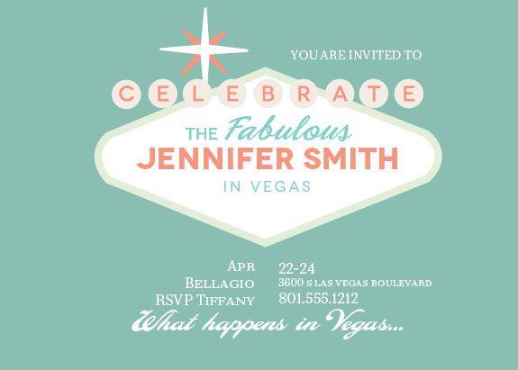 Fabulous Vegas Bridal Shower Invitations With Images Bridal