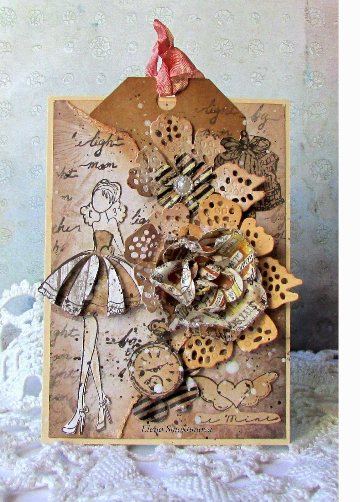 Inspired the beautiful by Elena Smoktunova: new cards