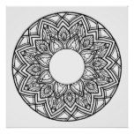 Mandala Color It Poster  Mandala Color It Poster  $17.75  by ThubanArts  . More Designs http://bit.ly/2hyOutM #zazzle