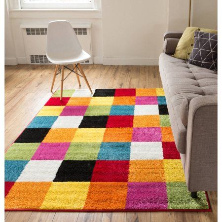 Well Woven Starbright Bright Square Kids Area Runner Rug Multi At
