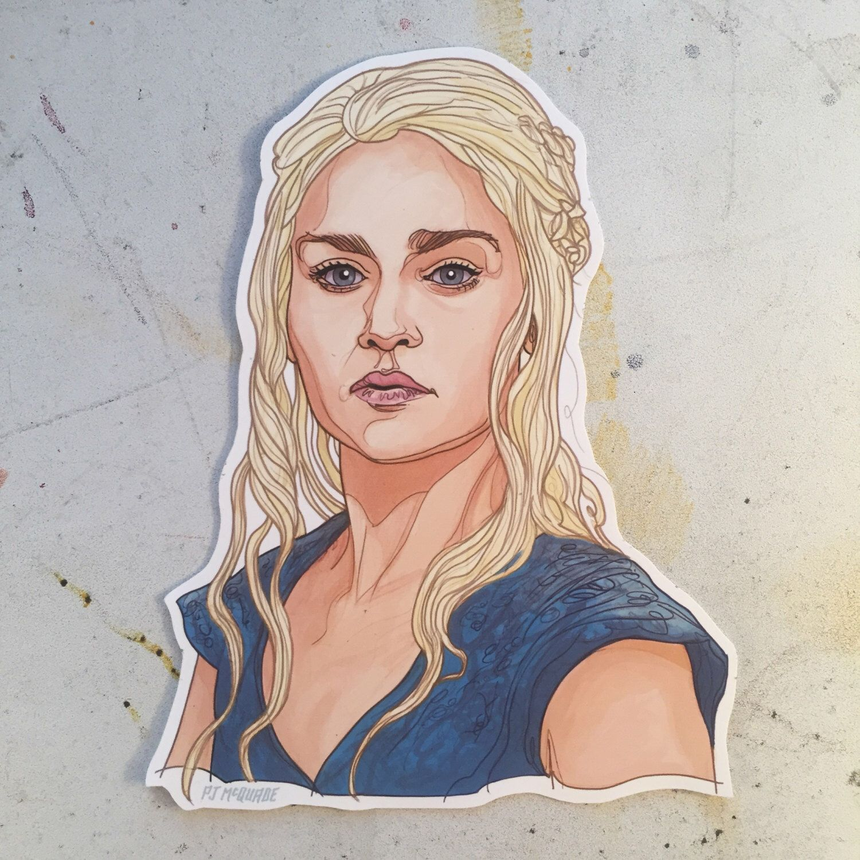 Daenerys GAME of THRONES Waterproof Sticker by