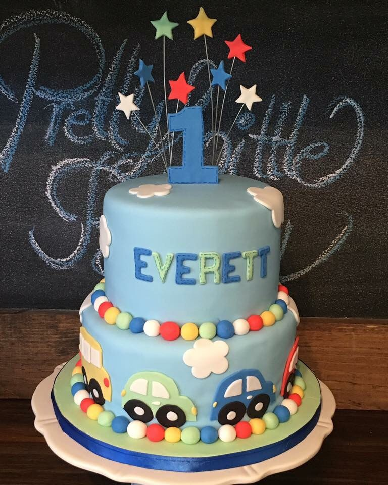 Awe Inspiring All Aboard Theme First Birthday Cake With Images First Funny Birthday Cards Online Hendilapandamsfinfo