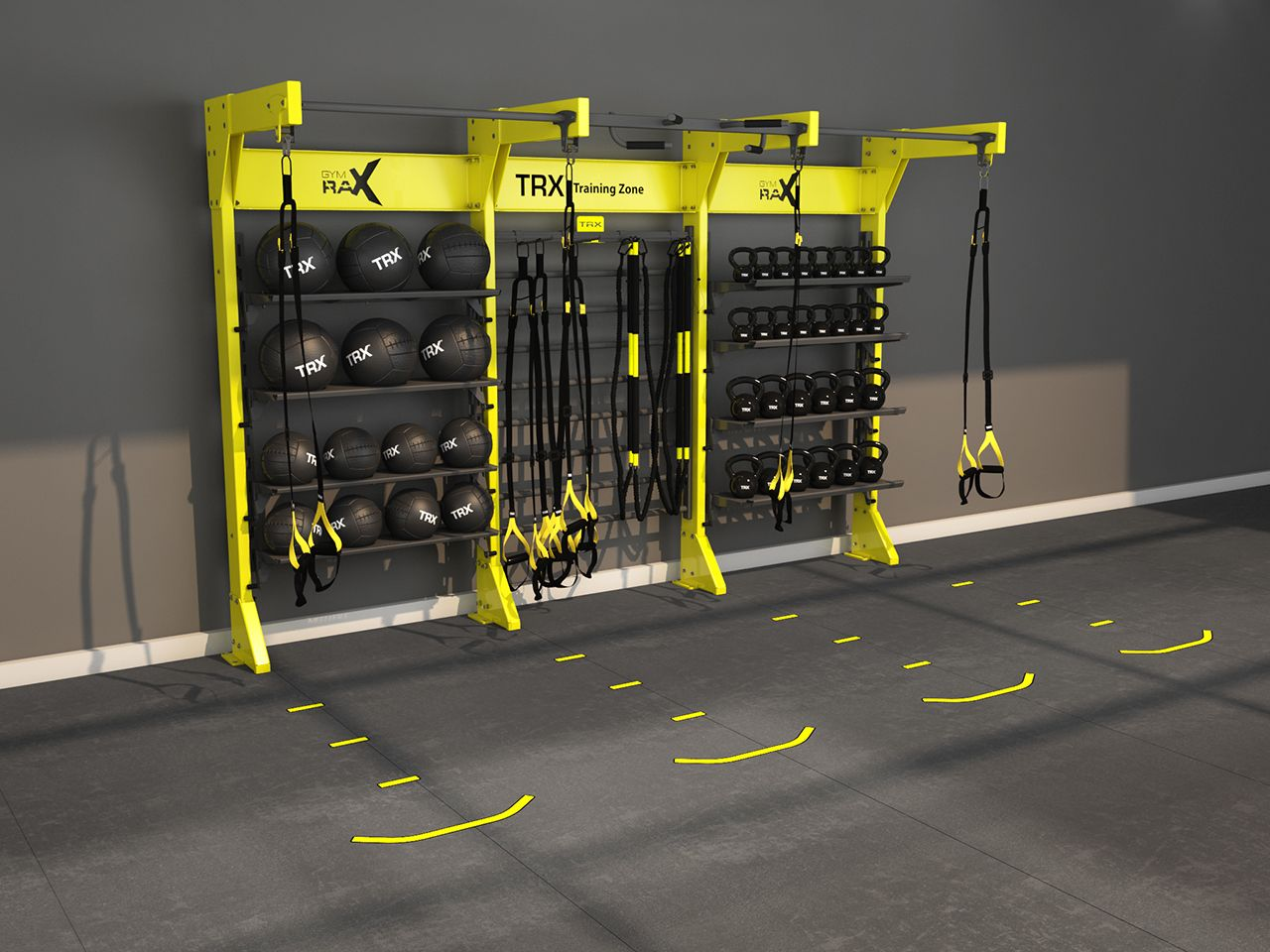 Design gym rax trx storage and suspension training for Best home gym design ideas