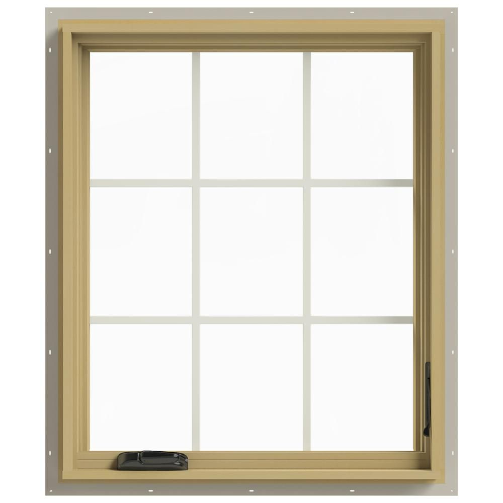 JELD-WEN 30 in. x 36 in. W-2500 Right-Hand Casement Aluminum Clad Wood Window