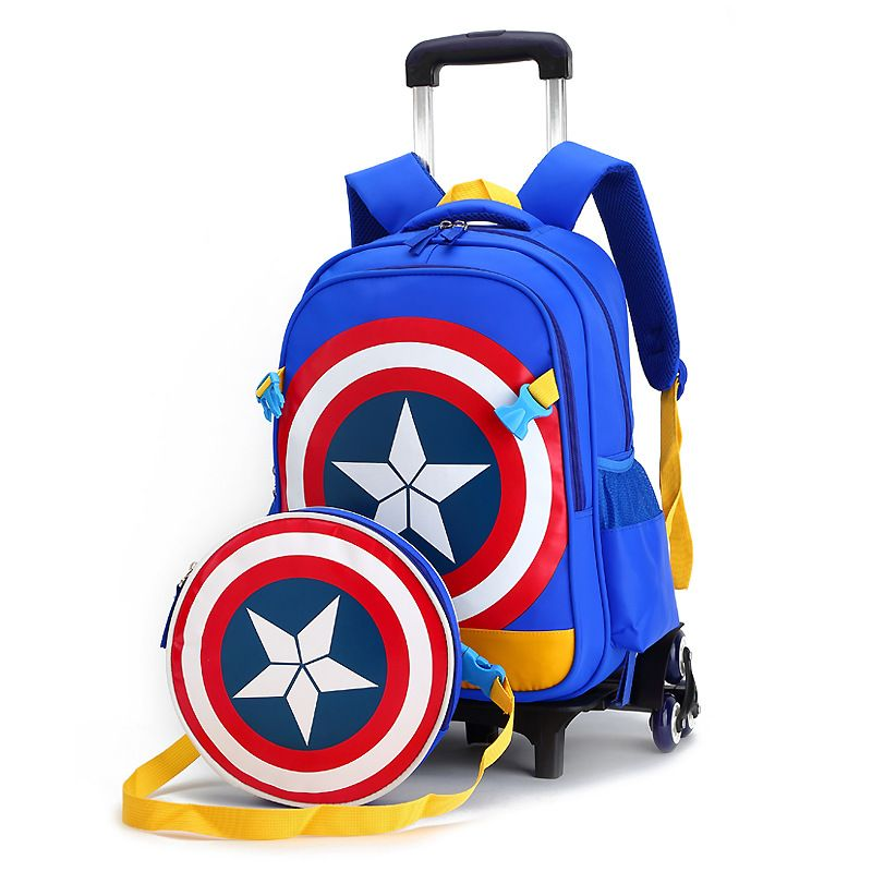 ae930e5f5f Children trolley 2- 6 wheels elementary school student books bag backpack rucksack  boy girls grade class 1-4 with Shoulder bags