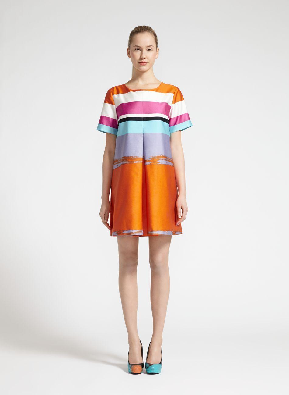 Pastelli-mekko (oranssi, v.violetti, turkoosi) |Vaatteet, Naiset, Mekot ja hameet | Marimekko