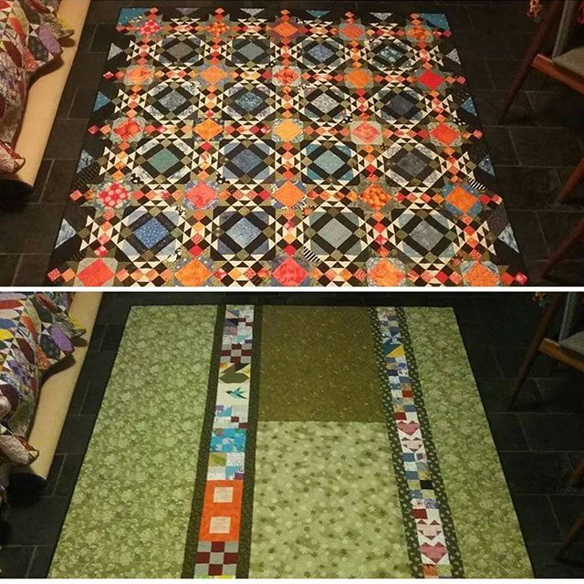 """This share is from Carol Richardson! """"Just finished sewing the binding on my Allietare quilt. The label was pieced into the backing. Thanks Bonnie for a wonderful pattern."""" . . WOWIE ZOWIE on these colors, Carol! Love love love it! If you missed it, the Allietare pattern is available as a digital download in the quiltville store. . . For those of you who are asking, yes, we are doing another mystery this winter! Be looking for color information and yardage requirements at the end of the…"""